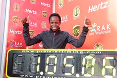 After averaging 4:57 per mile pace, Peres Jepchirchir of Kenya collapses at the finish line.