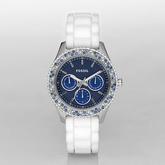 Fossil ~Luxury on your wrist! The deep blue color on the face reminds me of the Pacific and blue within on the chronographs is the sky~ make a statement this Summer with this gorgeous watch! @Metropolisatmet #FindWhatYouLove