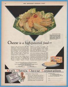 1929 Kraft Phenix Swiss Cheese Grapefruit Salad Recipe Food Kitchen Decor Ad  | eBay