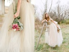 fall inspiration wedding shoot... how beautiful is this dress?
