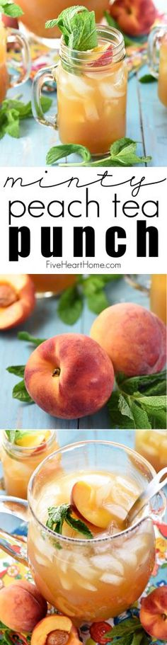 Minty Peach Tea Punch