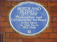 Bertrand Russell - Bury Place, London, UK - Blue Plaques on Waymarking.com