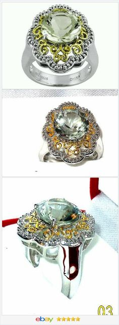 Genuine Green Amethyst Prasiolite Ring size 7 USA Seller http://stores.ebay.com/JEWELRY-AND-GIFTS-BY-ALICE-AND-ANN