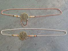 Headband bronze et émail. : Accessoires coiffure par papier-de-verre