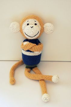Crochet monkey by spodskszydla on Etsy