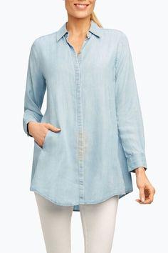 db48031bd94c23 Foxcroft Tencel Tunic Shirt - Main Image Spring Trends, Tunic Shirt, Tunic  Tops,