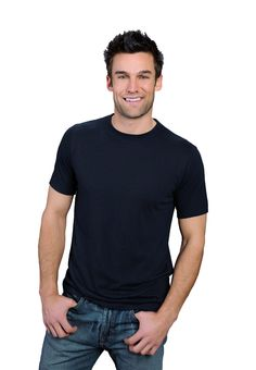 54a6beb3b12 charcoal blue ONNO bamboo and organic cotton t-shirt for men. Soft to the