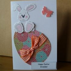 Tarjeta OOAK personalizado Pascua conejito £ 2.50 por Aunty Joan Artesanía por Mojca94