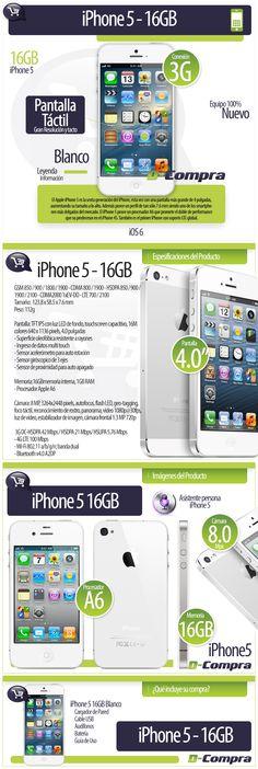 iPhone 5 16GB. Cliente D-Compra. Elaborado por iGrafi