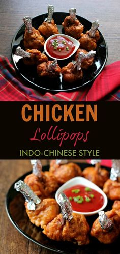 Chicken Lollipops - who doesn't like them? I haven't yet found a person who doesn't (Okay, I am exaggerating! Indian Beef Recipes, Indo Chinese Recipes, Goan Recipes, New Recipes, Chicken Recipes, Chicken Lollipops Recipe Indian, Chicken Lolipop Recipe, Ramadan Recipes, Ramadan Food