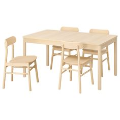 Rönninge (IKEA Table And 4 Chairs) site:155 210x90x75 cm color:Birch birch ( Furniture > Dining Furniture > Dining Table   Chair > Dining Sets ) #59388768