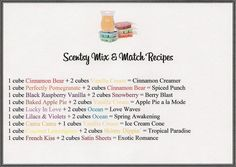 Mix and match your #Scentsy bars to make new smells! #Scentsyaromatherapy ideas! brookenelson.scentsy.us