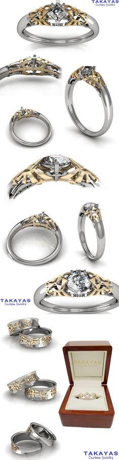 Legend of Zelda Wedding Collection by Takayas Custom Jewelry | http://pinterest.com/zeldanet/zelda-way-of-life/ THIS IS BEAUTIFUL
