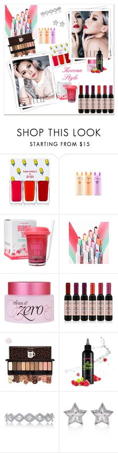 """Korean Icon"" by tattooedmum on Polyvore featuring GALA, Thank You Farmer, Karl Lagerfeld, CZ by Kenneth Jay Lane, contestentry, koreancosmetics and cutefinds"
