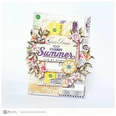 204 отметок «Нравится», 3 комментариев — Mariusz Gierszewski (@scraphobby) в Instagram: «My summer card for @primamarketinginc I used St. Tropez collection by @frankgarciadesigns :-)…»