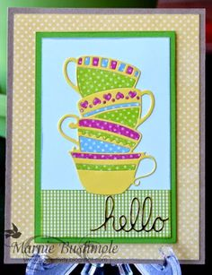 Poppy Stamps Dies - Tea Cups - by Marnie Bushmole - Paperitivity