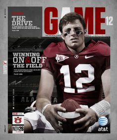 2010 Alabama Gameday Program Covers by Buddy Overstreet, via Behance
