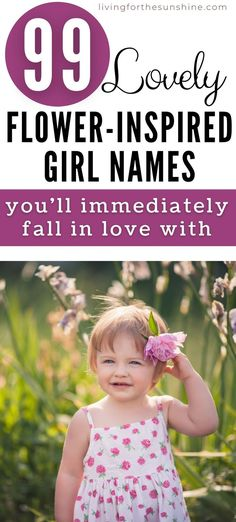 Find a beautiful flower inspired name that hasn't been overused. Flower names for girls that aren't Rose and Lily Unique Flower Names, Flower Names For Girls, Unique Girl Names, Unique Flowers, Amazing Flowers, Traditional Girl Names, One Syllable Girl Names, Cute Nicknames, Pretty Names