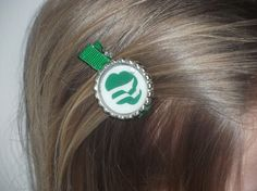 Girl Scouts Daisy Brownie Juniors Bottlecap Clip Hairbow. $3.25, via Etsy.