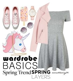 """""""Wardrobe Basics: Spring Jacket"""" by avonsblessing94 ❤ liked on Polyvore featuring Topshop, Rebecca Taylor, Converse, Nila Anthony, Tory Burch, CLUSE and Monki"""