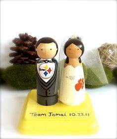 SPORT Wedding Cake Topper Pittsburgh Steelers Any Sport Team Themed Bride Groom Custom Cake Topper Baseball Football Basketball on Etsy, $74.52 CAD