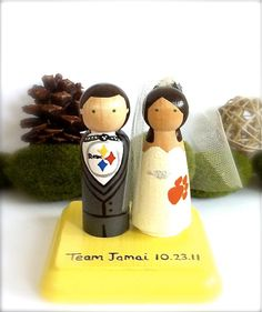 SPORT Wedding Cake Topper Pittsburgh Steelers Any Sport Team Themed Bride Groom Custom Cake Topper Baseball Football Basketball on Etsy, $74.52 CAD
