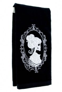 Haunted Mansion Hers Skeleton Halloween Hand Towel Kitchen and Bath Gothic Home Decor - Embroidered Design with High Quality Stitching and Thread. - Soft Feel - Made of cotton sheared terry with dobby border hem. - Great for a Gothic Hallo Halloween Home Decor, Halloween House, Gothic Halloween, Shabby Chic Kitchen, Shabby Chic Homes, Gothic Home Decor, Diy Home Decor, Home Decor Styles, Luxury Houses