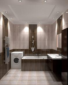 дизайн потолка в ванной