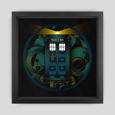 Doctor Who TARDIS Framed Art Print by Nathan Owens