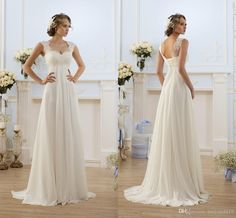 2015 Cheap Vintage Empire Wedding Dresses Sweetheart Cap Sleeve Lace Appliqued Beaded Maternity Chiffon Long Sashes Plus Size Bridal Gowns Lace Wedding Dress Pinterest Lace Wedding Dresses Pinterest From Haiyan4419, $119.38| Dhgate.Com