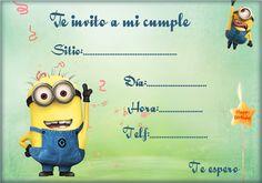 Tarjeta para invitaciones de cumpleaños de los Minions | Invitaciones gratis para ti