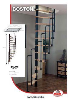 Lépcső, csigalépcső, fémlépcső, falépcső, falétra | Regős & Regős Faipari Kft. Loft Room, Stairway To Heaven, Minka, Stairways, Decoration, New Orleans, Denver, Orlando, Tall Cabinet Storage