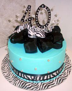 40th birthday cakes for women | themecakesbytraci.com