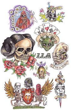 Star Wars Poster - Tattoo Flash: Star Wars Tattoo Starwars Tattoo