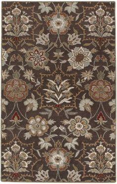 The traditional Villandry rug design in Espresso from #CapelRugs