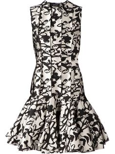 Shop Lanvin abstract print peplum dress in L'Eclaireur from Paris, France.