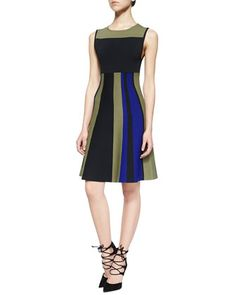 Sleeveless Colorblock Fit & Flare Dress by Ohne Titel at Neiman Marcus.