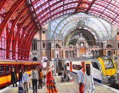 Antwerpen centraal station 80x90cm  http://www.veracauwenberghs.com