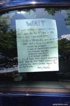 Stop Breaking In #funny #lol #humor