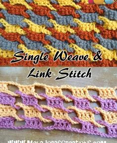 Single Weave and Link Stitch crochet tutorial, plus Left & Right Handed…