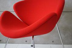 F437 Artifort Orange Slice fauteuil rood hoog model