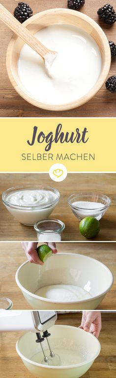 Joghurt ist eine wohltuende und leichte Zwischenmahlzeit und schmeckt selbstgemacht besonders gut. Wir zeigen dir, wie es geht! Und für Laktose-Geplagte und Veganer geht das Ganze sogar mit Sojamilch oder laktosefreien Produkten.