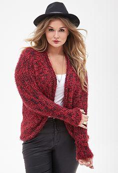 Fuzzy Knit Cardigan   FOREVER21 PLUS - 2000136855