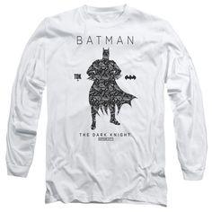 Batman: Paislety Silhouette Long Sleeve T-Shirt