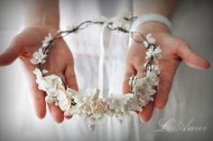 Weddbook ♥ A magnificent crown is best suited accessory for bridal's hair. It is made with the beautiful combination of seashell and pearls, which provided it an elegant and stunning appearance. This is perfect wedding accessory for bride.