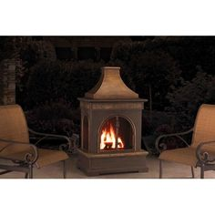 Sunjoy Manor Fire Place Keep the chill of winter at bay while you relax outside during the cold months. You'll get more enjoyment from your backyard or patio area with this striking fireplace by Sunjoy.