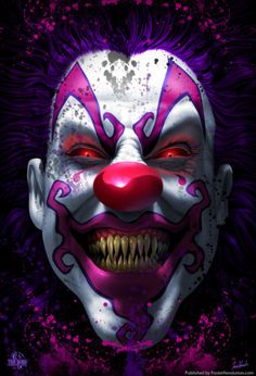 The Best Scary Halloween Clown Mask- Halloween latex mask pin-board by Asher Socrates.
