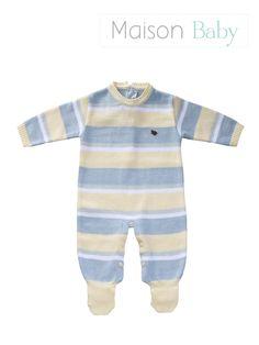 Macacão de tricot para menino recém nascido #macacaodetricot