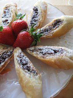 Dark Chocolate Pastries with Dried Fruit and Nuts