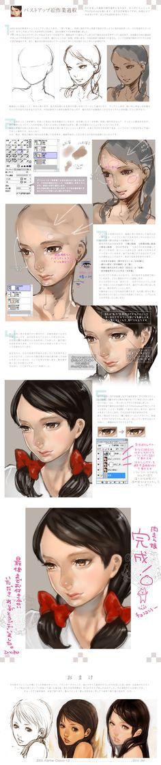 「女の子顔絵メイキング【厚塗り】」/「ひと和」のイラスト